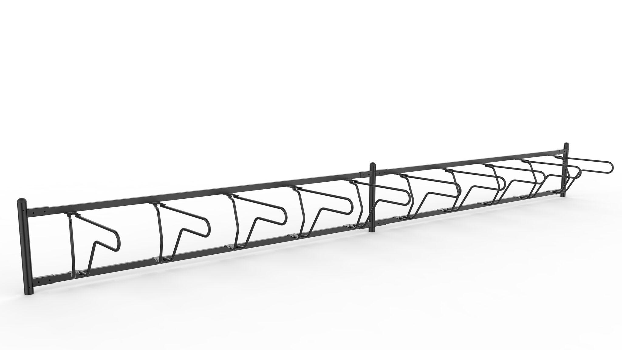 Delta runkolukitusteline, yksipuolinen pyöräteline edestä ja kahdella jaksolla jota voidaan myös pidentää, valkoinen pohja