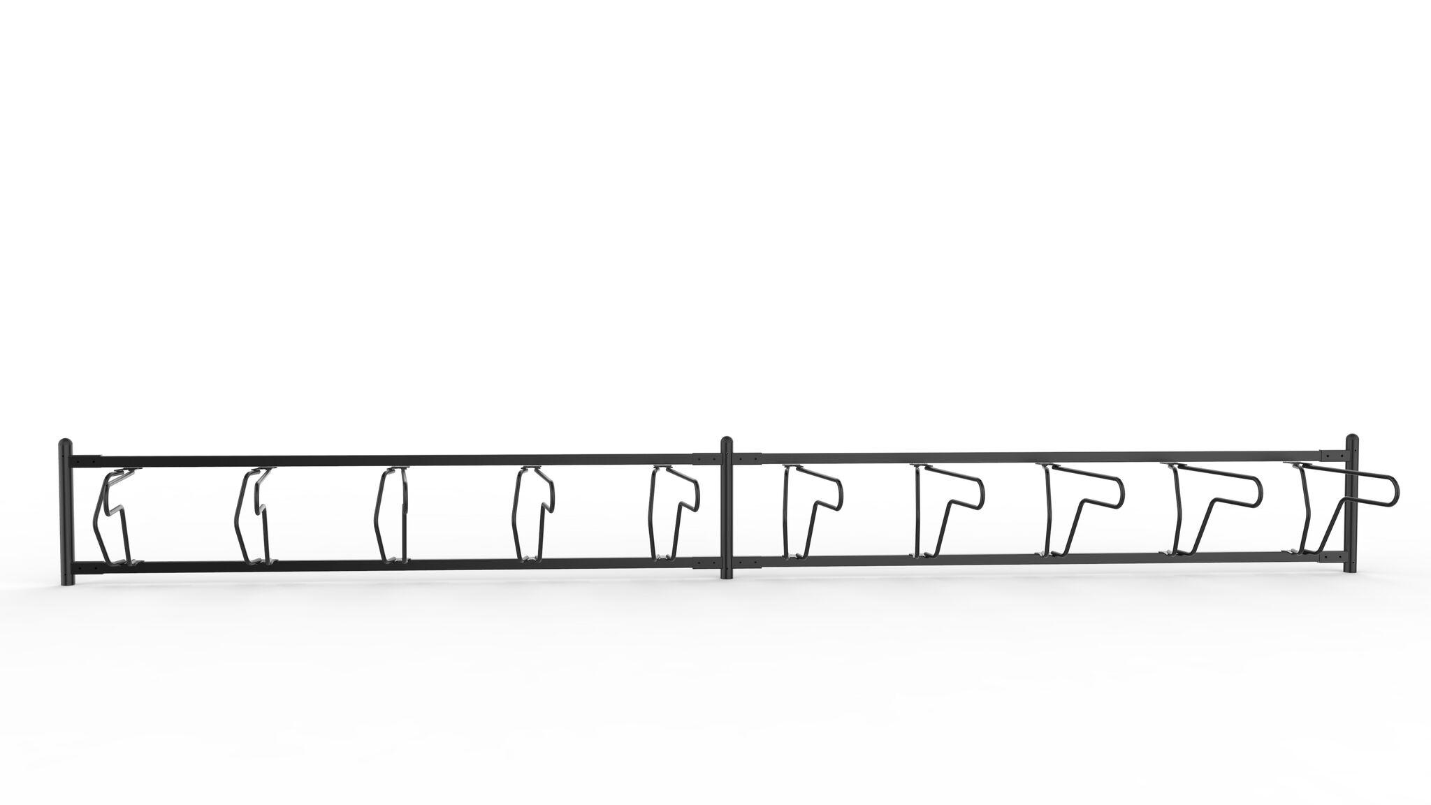 Delta runkolukitusteline, yksipuolinen pyöräteline edestä ja kahdella jaksolla, valkoinen pohja