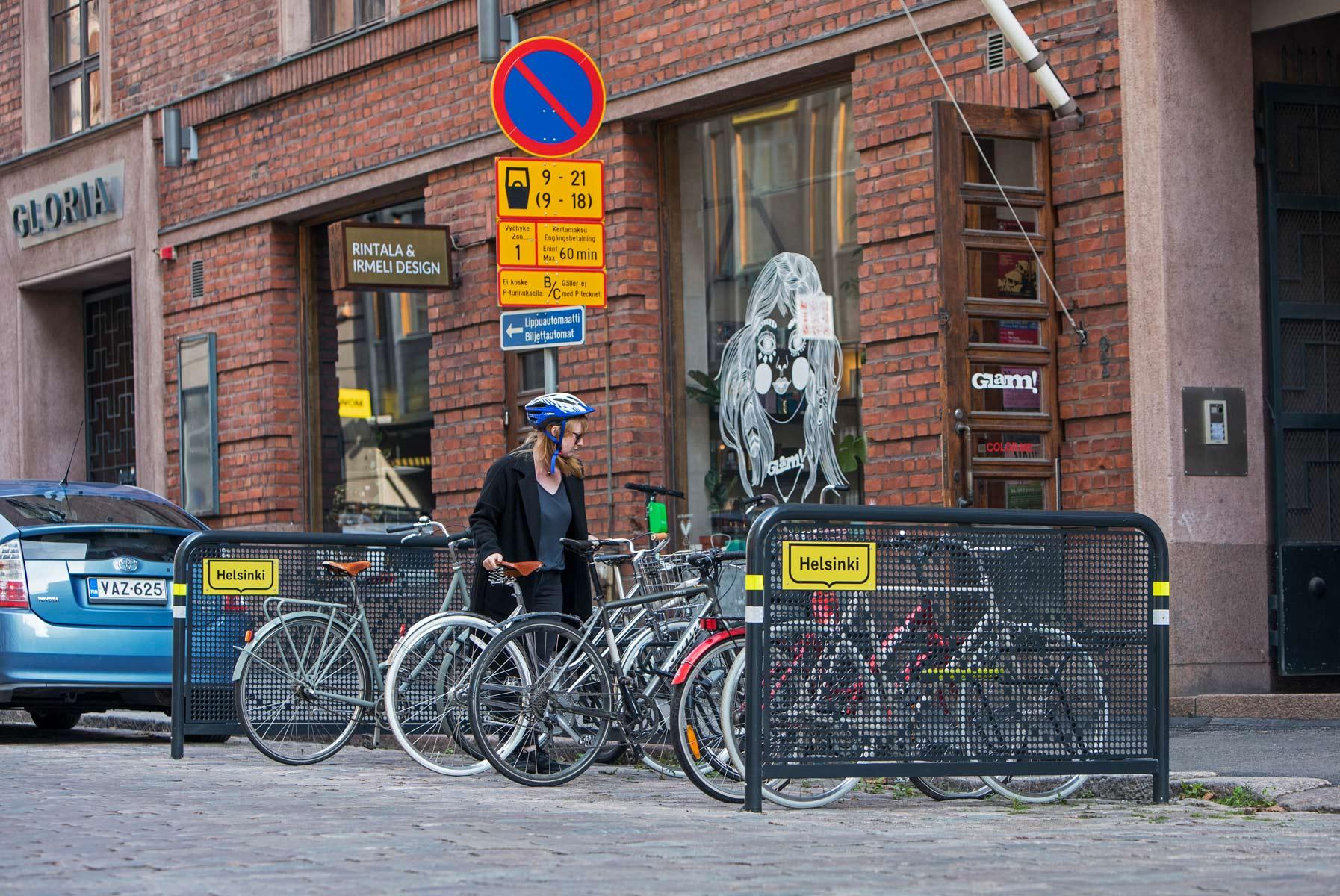 Pyöräaitaus kaupunkikuvassa