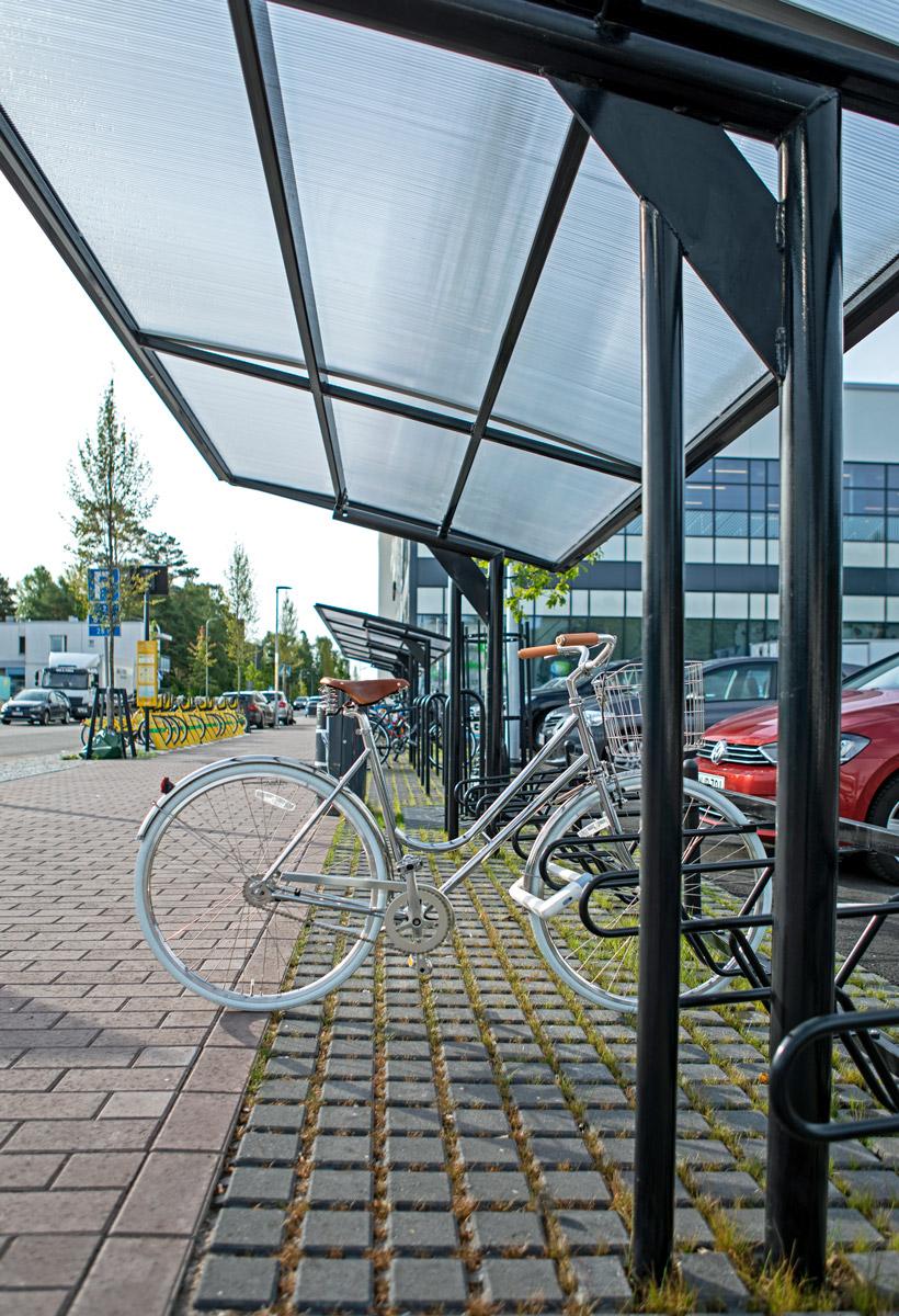 Pyöräkatos julkisessa ympäristössä