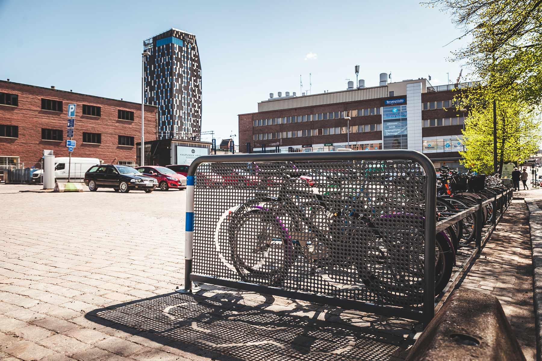 Pyöräteline Tampereella