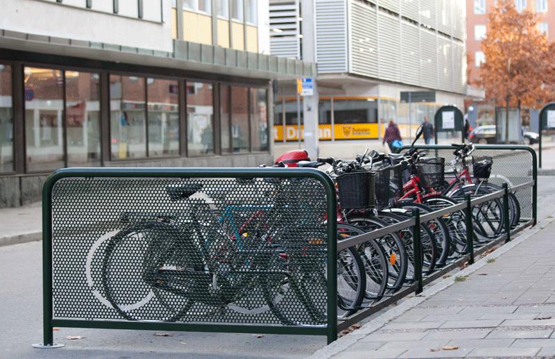 Sykkelhagene - utforming og funksjon med en markert gavl.