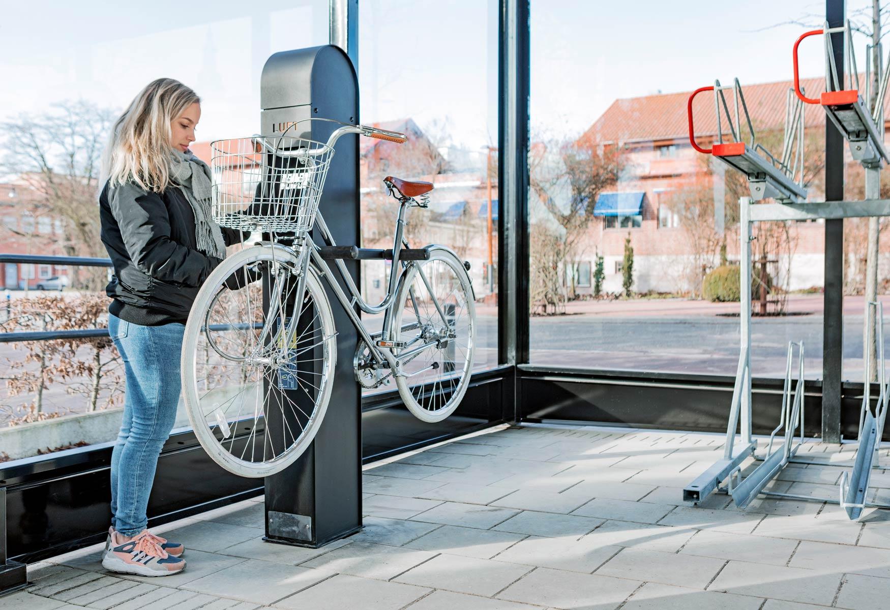 Cykelservicestation för cyklar