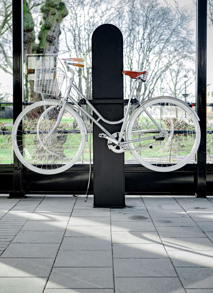Cykelservicestation som är vandalsäker
