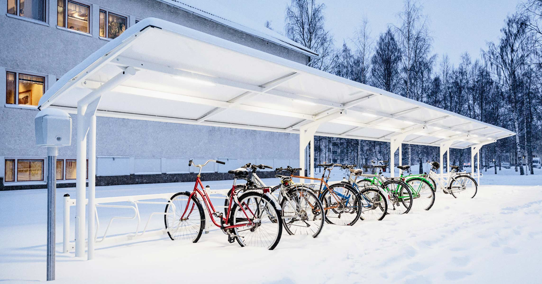 Cykeltak under vinter