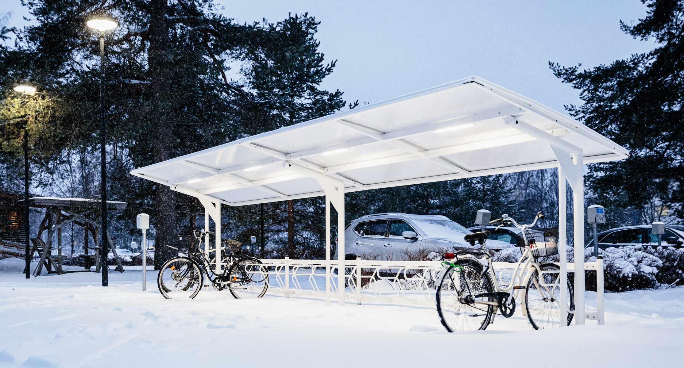 Cykeltak för vintercykling