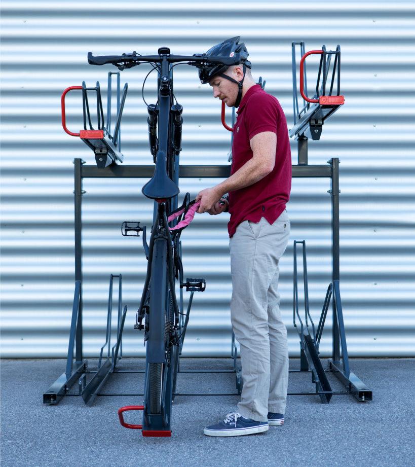 Cyklos OPTIMA tvåvåningsställ för cykel 8 platser