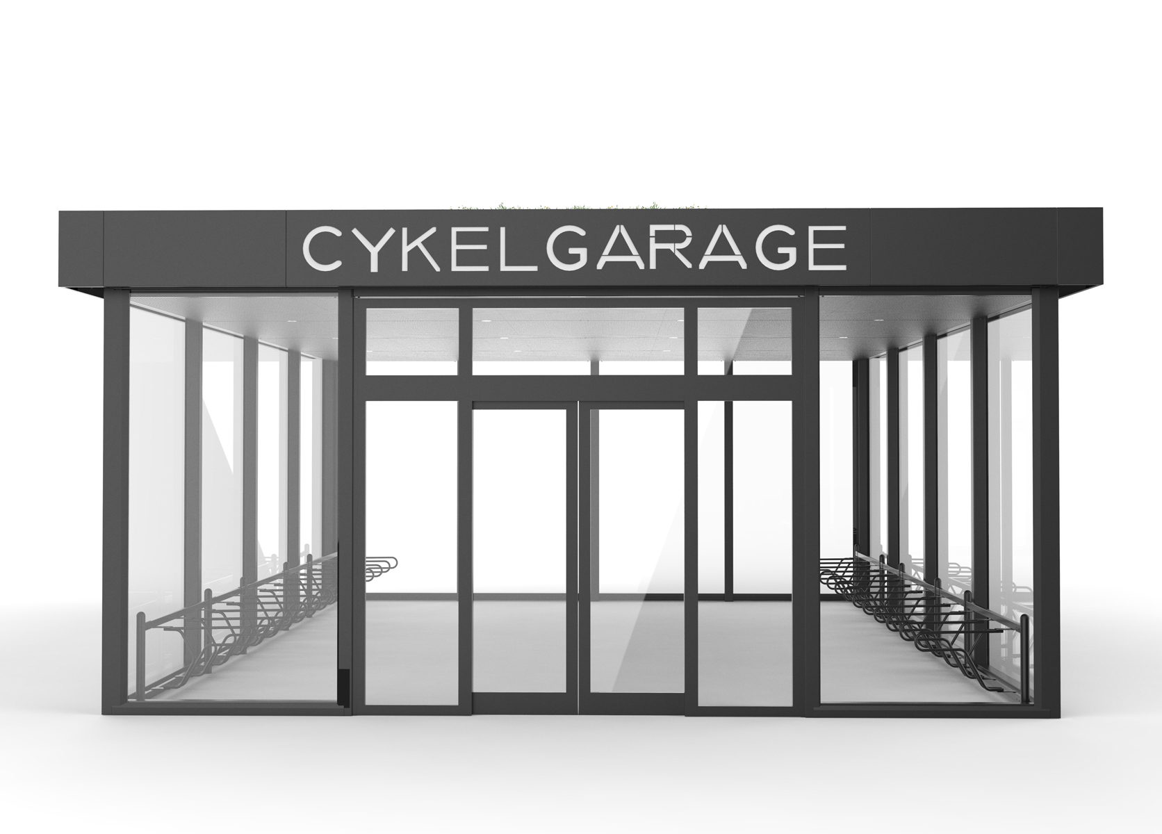 Cykelgarage för offentlig miljö