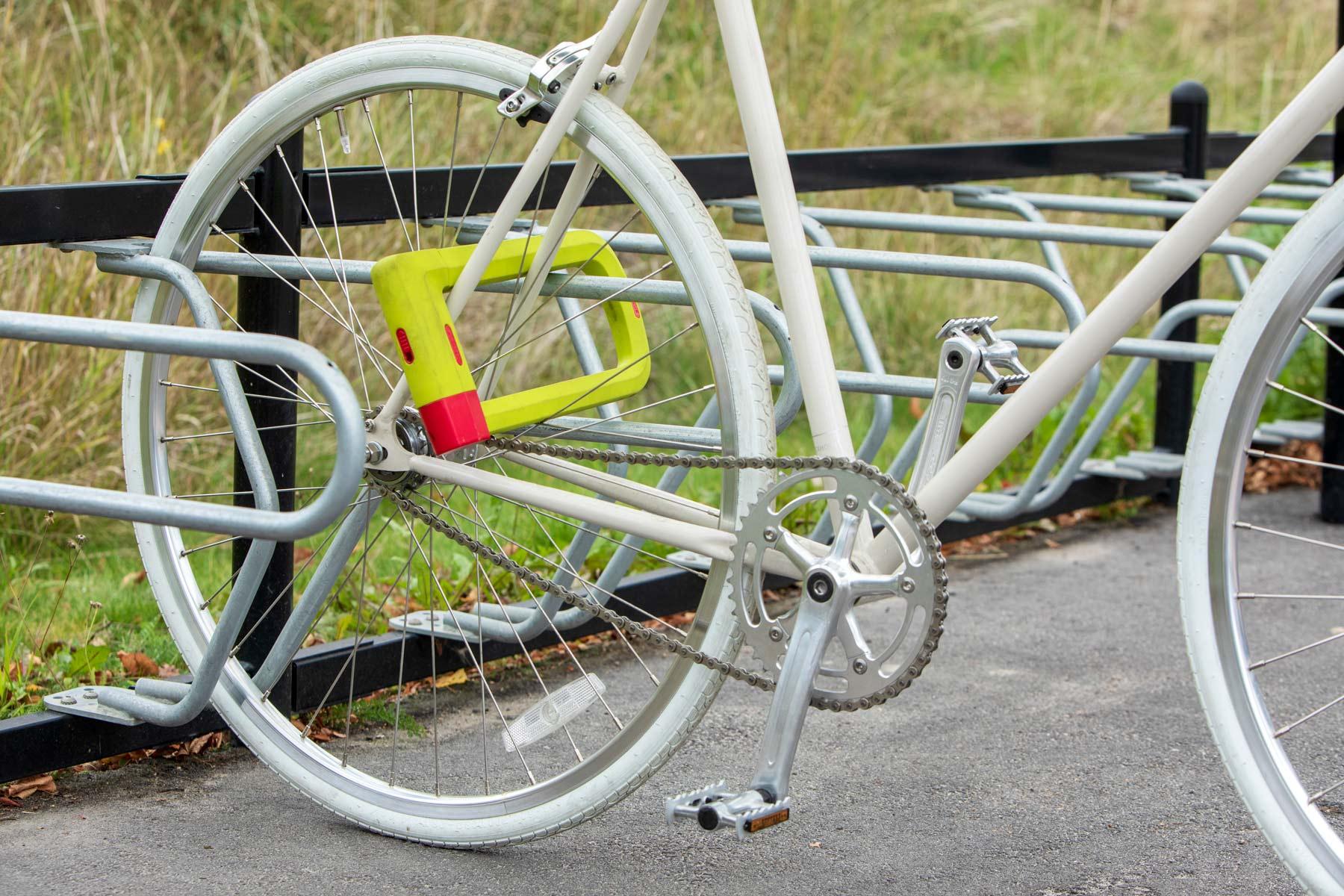 Säkert ramlås för cyklar