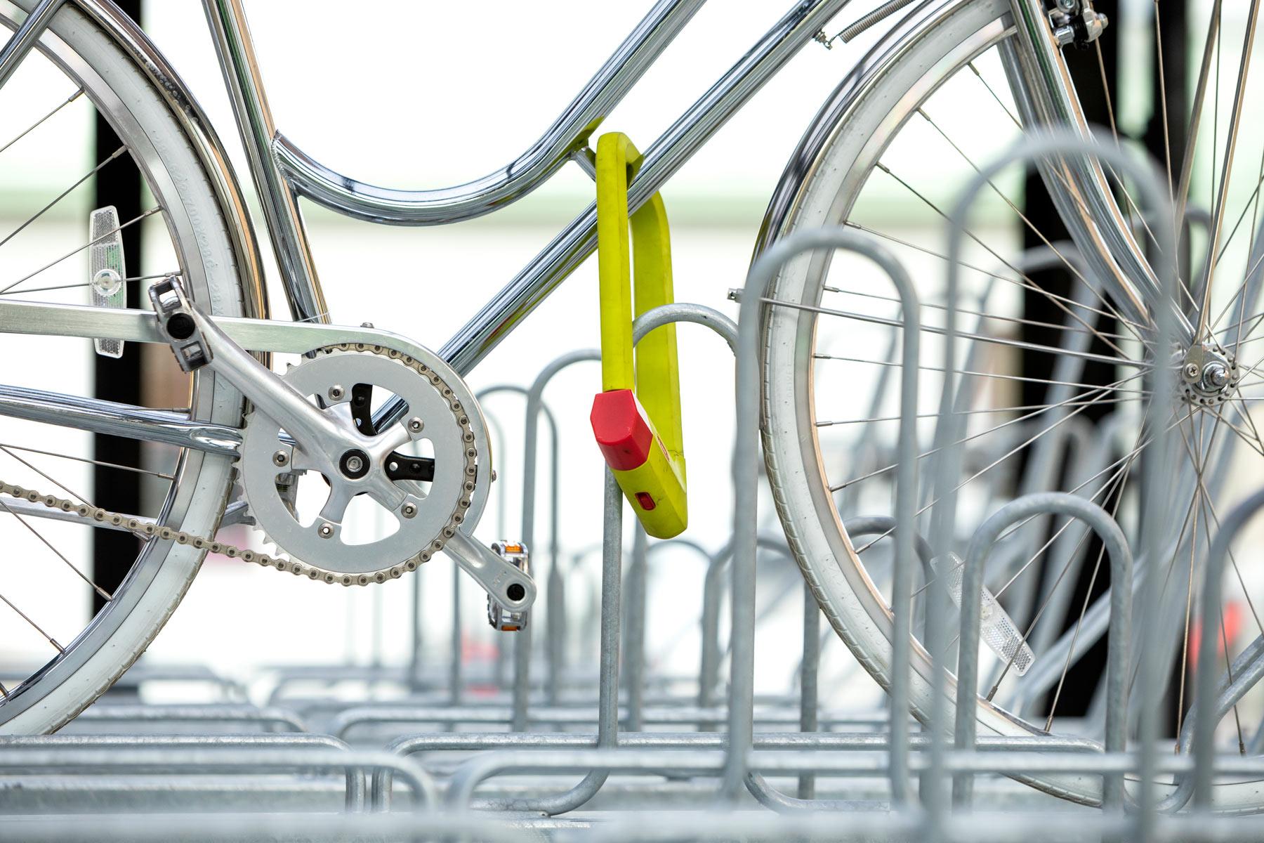 Cykelgarage med ramlåsning