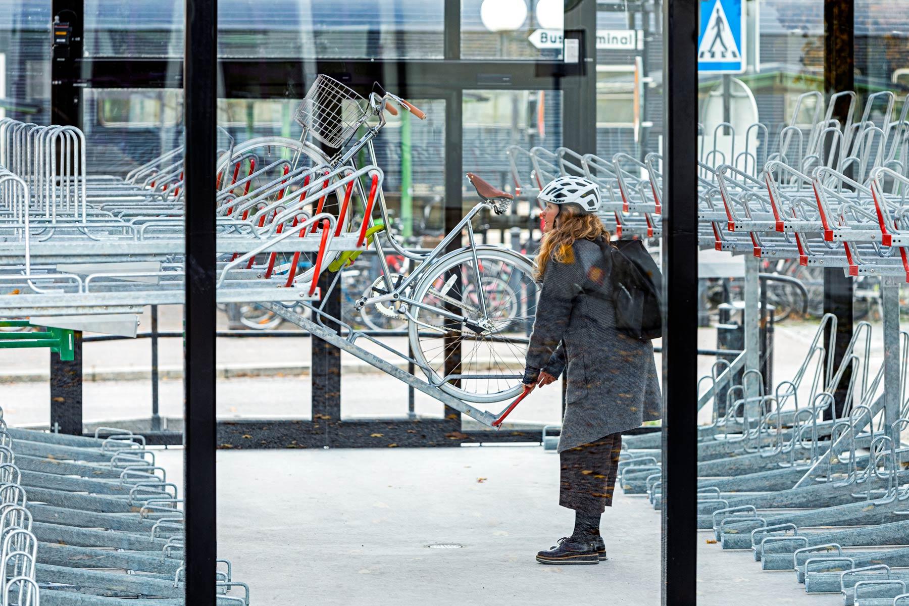 Cykelgarage och väderskydd
