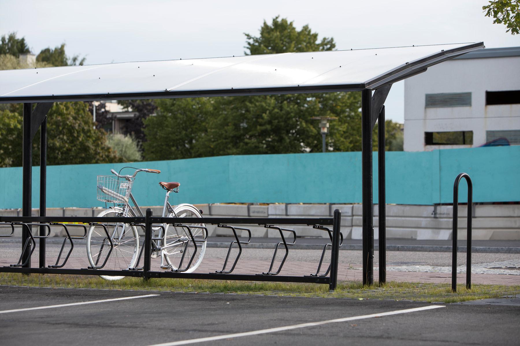 Cykeltaket KAPPA för offentlig miljö