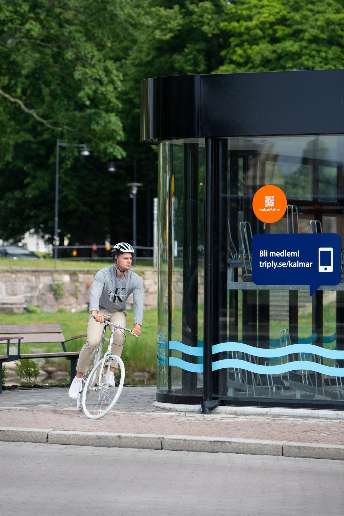 Cykelgarage med runda hörn för smidig cykling